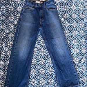 Levi's Size 14 Slim 25x27 Boys Blue Straight Jeans